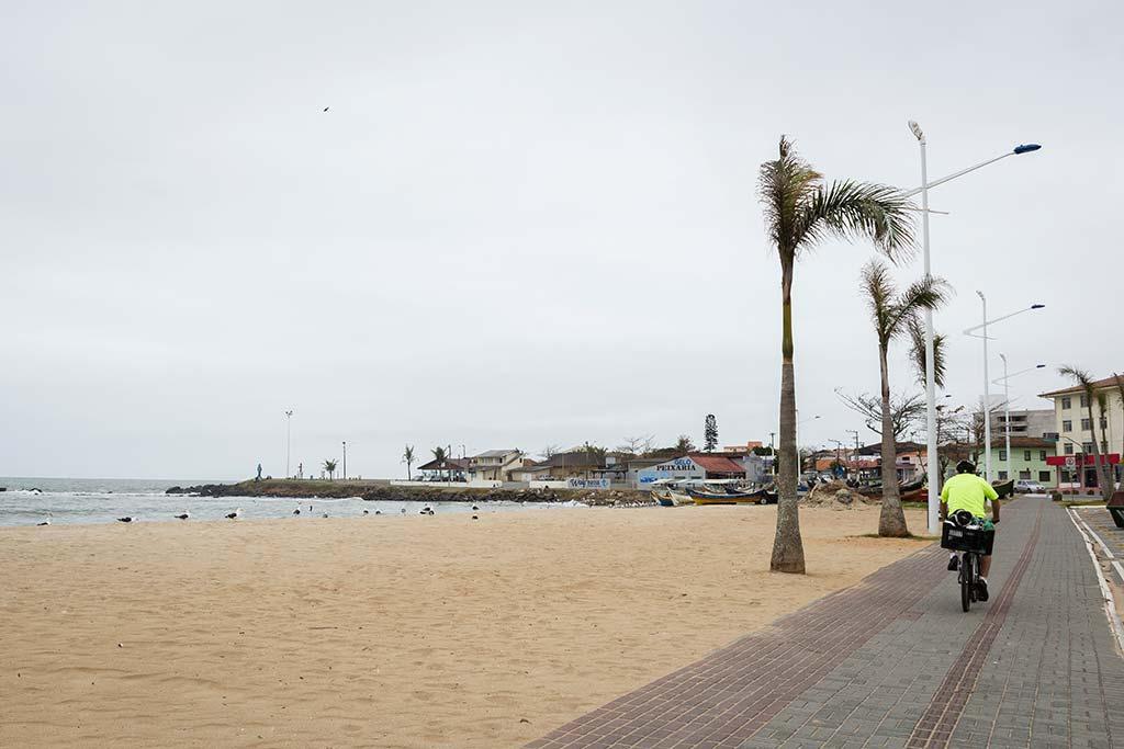 Cicloturismo litoral norte de SC - Dia 1 - Praia de Barra Velha