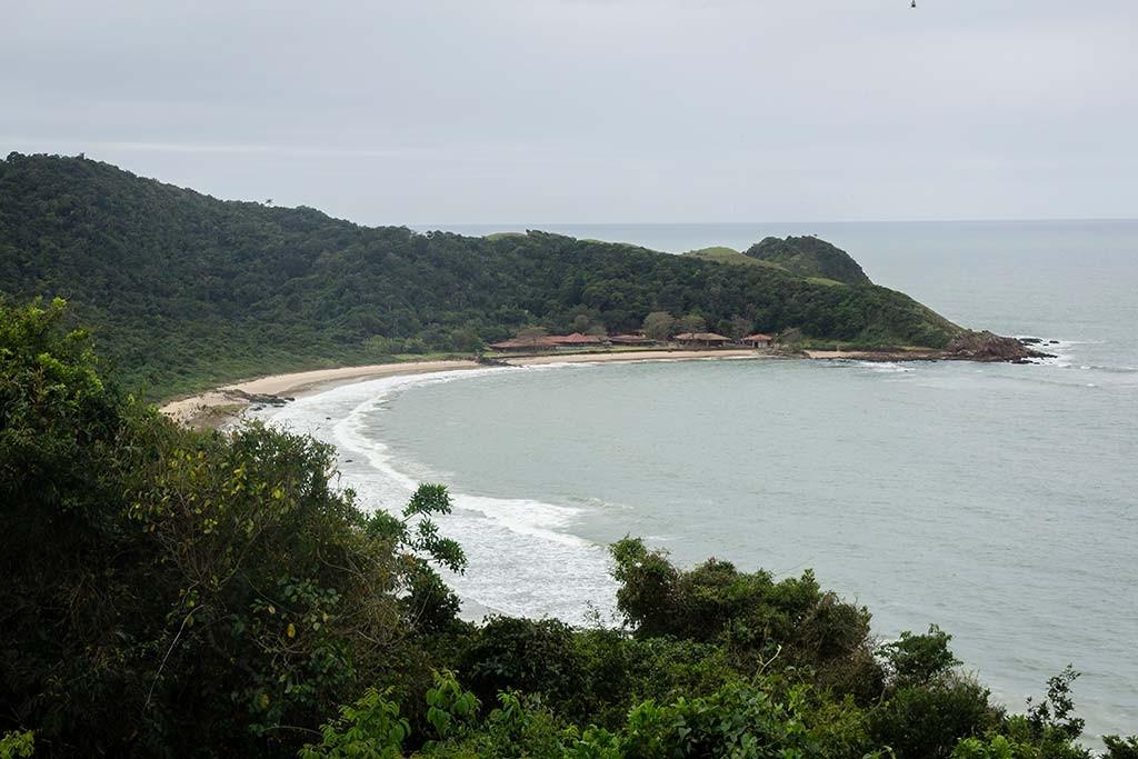 Cicloturismo litoral norte de SC - Dia 2 - Mirante Rua do Turismo - Vista para Praia do Monge