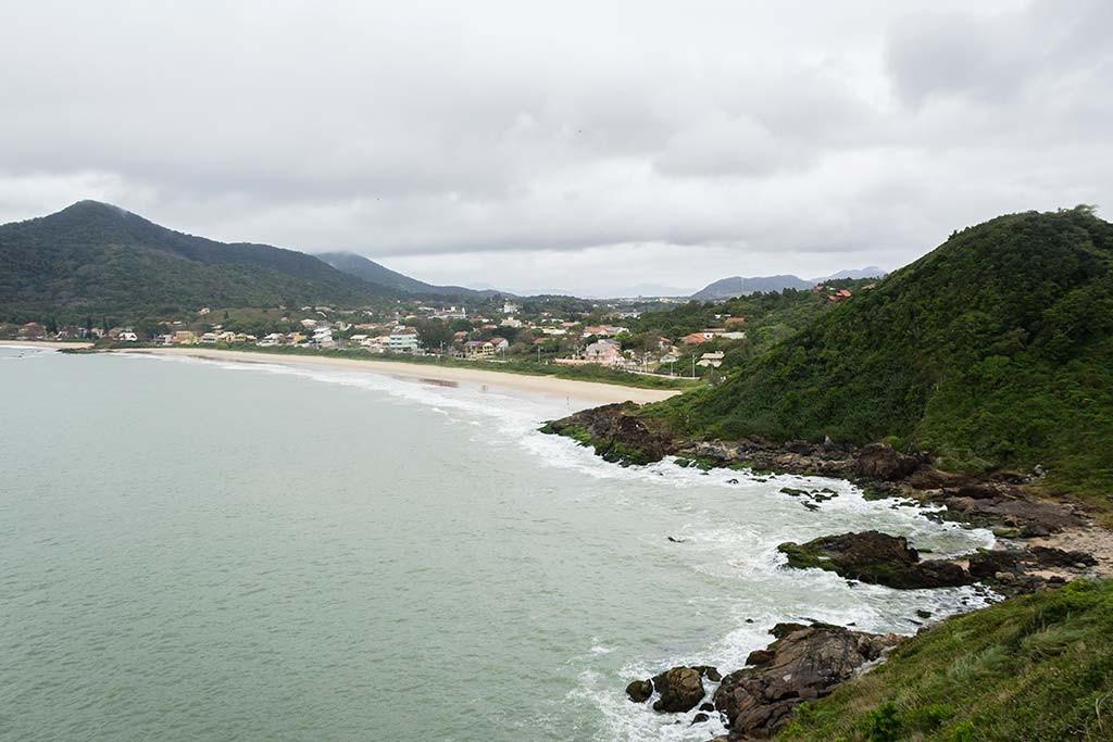 Cicloturismo litoral norte de SC - Dia 2 - Ponta do Vigia - Vista para Praia Grande
