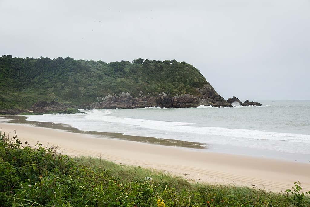 Cicloturismo litoral norte de SC - Dia 2 - Praia Grande