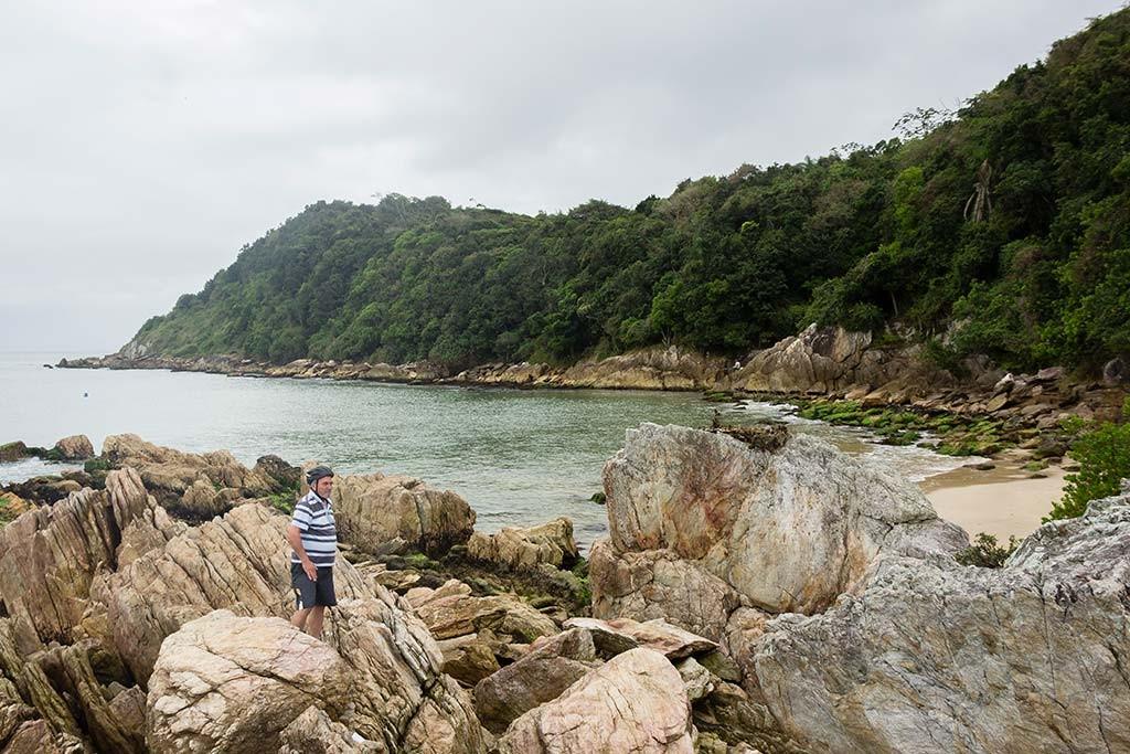Cicloturismo litoral norte de SC - Dia 2 - Praia da Paciência