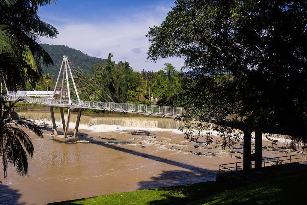 Circuito Vale Europeu - Dia 2 - Timbó - Ponte no centro - Rio Benedito