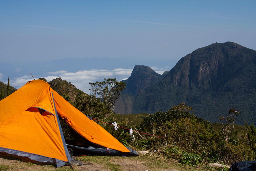Barraca montada com vista - Pico Paraná