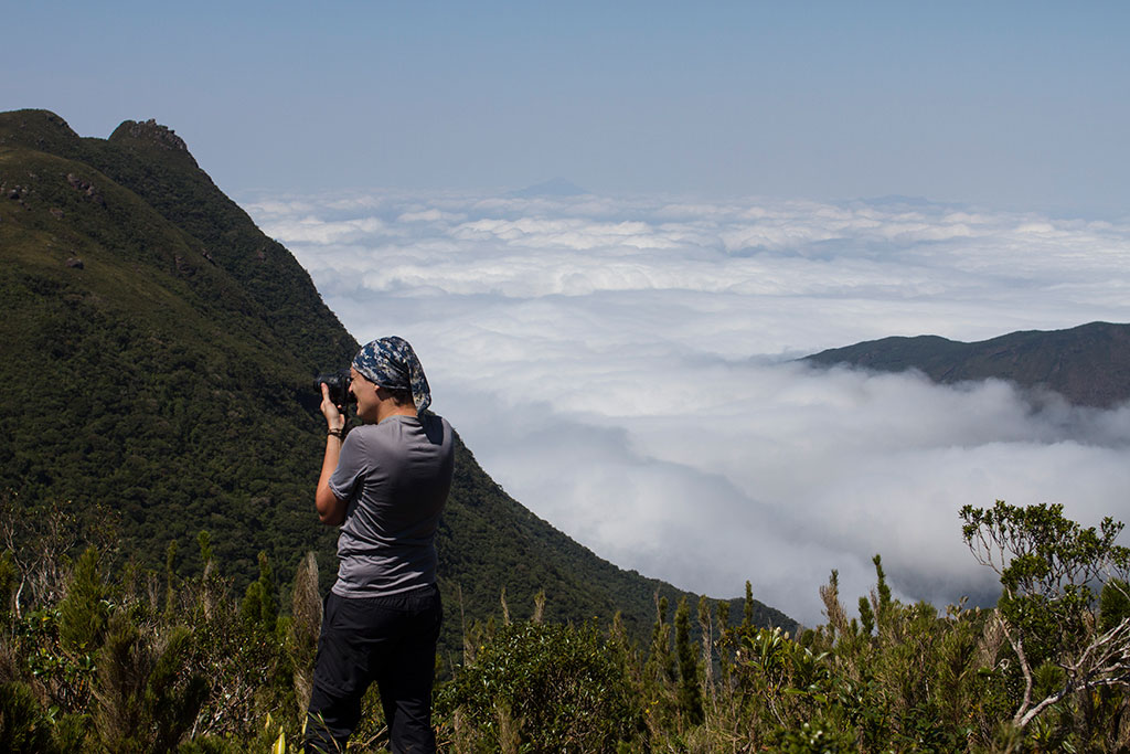 Glauco fotografando - Trilha Pico Paraná
