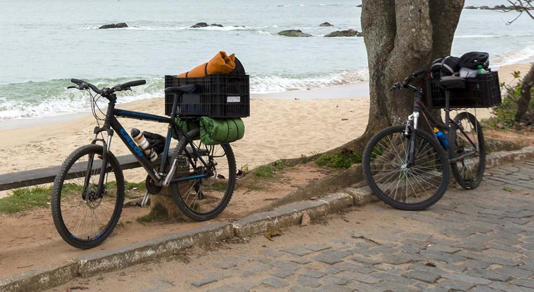 Cicloturismo – Viagem pelo litoral norte de SC – Dia 1